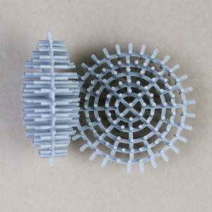 广东格强批发聚丙烯废气喷淋塔花环填料96MM海胆形环保球填料 二氧化硫烟尘废气环保填料
