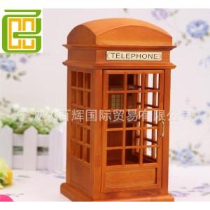 英式电话亭造型音乐盒八音盒创意工艺品居家摆饰送男女朋友礼品