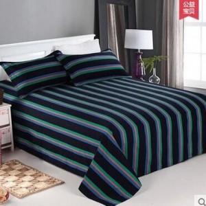 百布堂   床上用品  老粗布家纺  简约格子三件套  纯棉