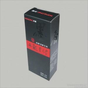 供应文龙高级书画专用墨汁No.7608的纸盒 包装盒 礼品盒  彩盒