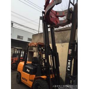 杭州夹包叉车 转让二手合力3吨合力夹包叉车
