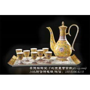 北京景德镇陶瓷酒具定制厂家 北京景德镇陶瓷酒具批发价格